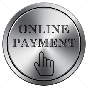 Online payment icon. Round icon imitating metal. - Icons for your website