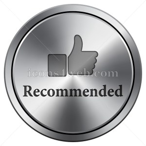 Recommended icon imitating metal with carved design. Round icon. - Icons for your website