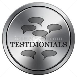 Testimonials icon. Round icon imitating metal. - Icons for your website