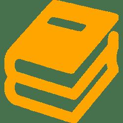 Orange book stack icon Free orange book icons