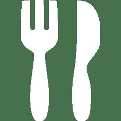 White restaurant 3 icon Free white fork icons
