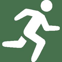 White running icon Free white running icons