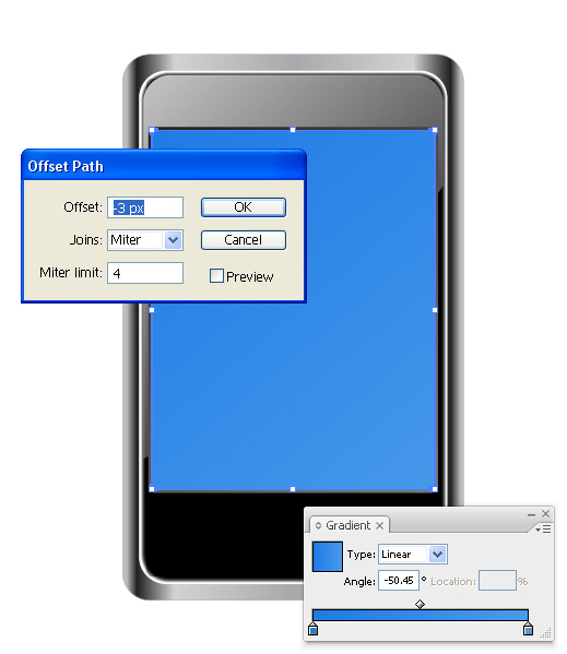 Phone Vector Tutorial 8 Step