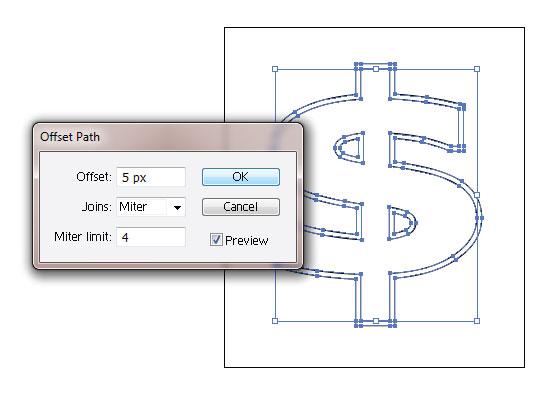 Create 3d Dollar Symbol In Adobe Illustrator Iconshots Magazine