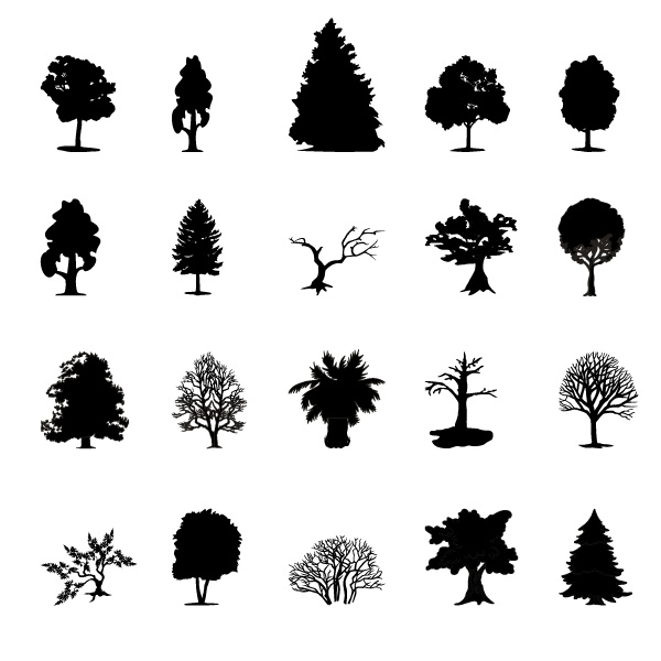 Black Trees Silhouette