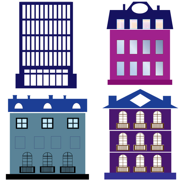 Buildings Vector Graphic Iconshots