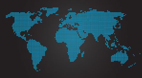 dotted vector world map