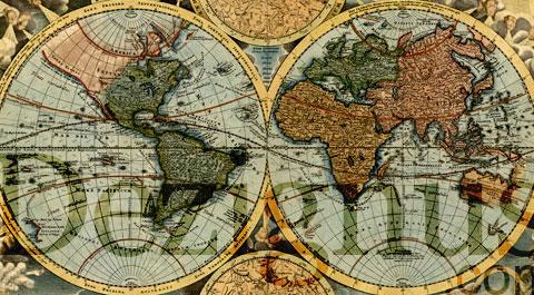 historic world map