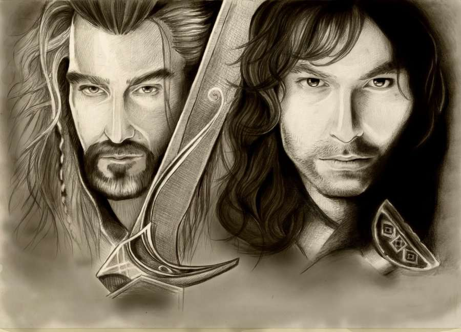 The Hobbit. Thorin and Kili