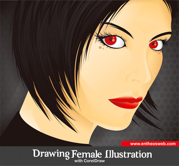 Drawing a Female Illustration with Corel Draw