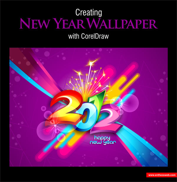 New Year Wallpaper Design with CorelDraw