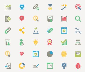 36 SEO icons