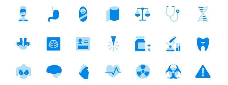 medical icons design process