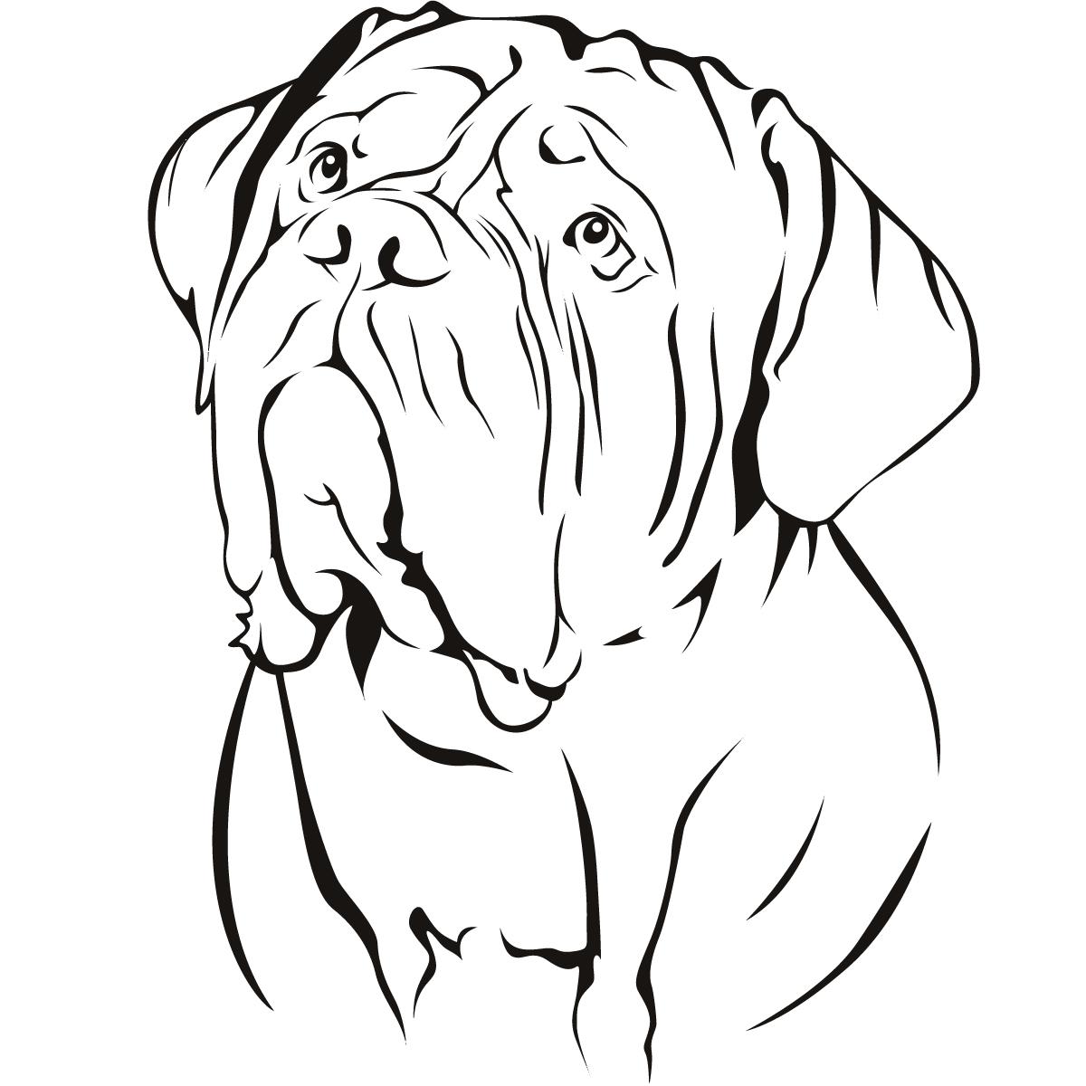 Dog De Bordeaux Dogs Animal Wall Art Sticker Wall Decal