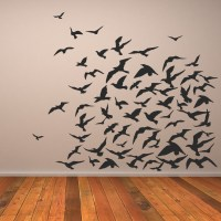 Flock Of Birds Animals Wall Art Decal Wall Stickers ...