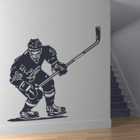 Front Hockey Player Sports Wall Art Stickers Wall Decal ...