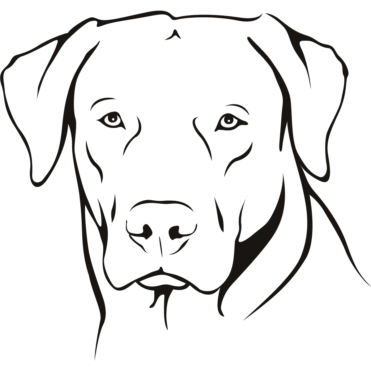 Labrador Portrait Dogs Animals Wall Art Stickers Wall