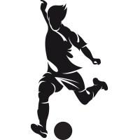Left Foot Striker Football Sports Wall Art Sticker Wall ...