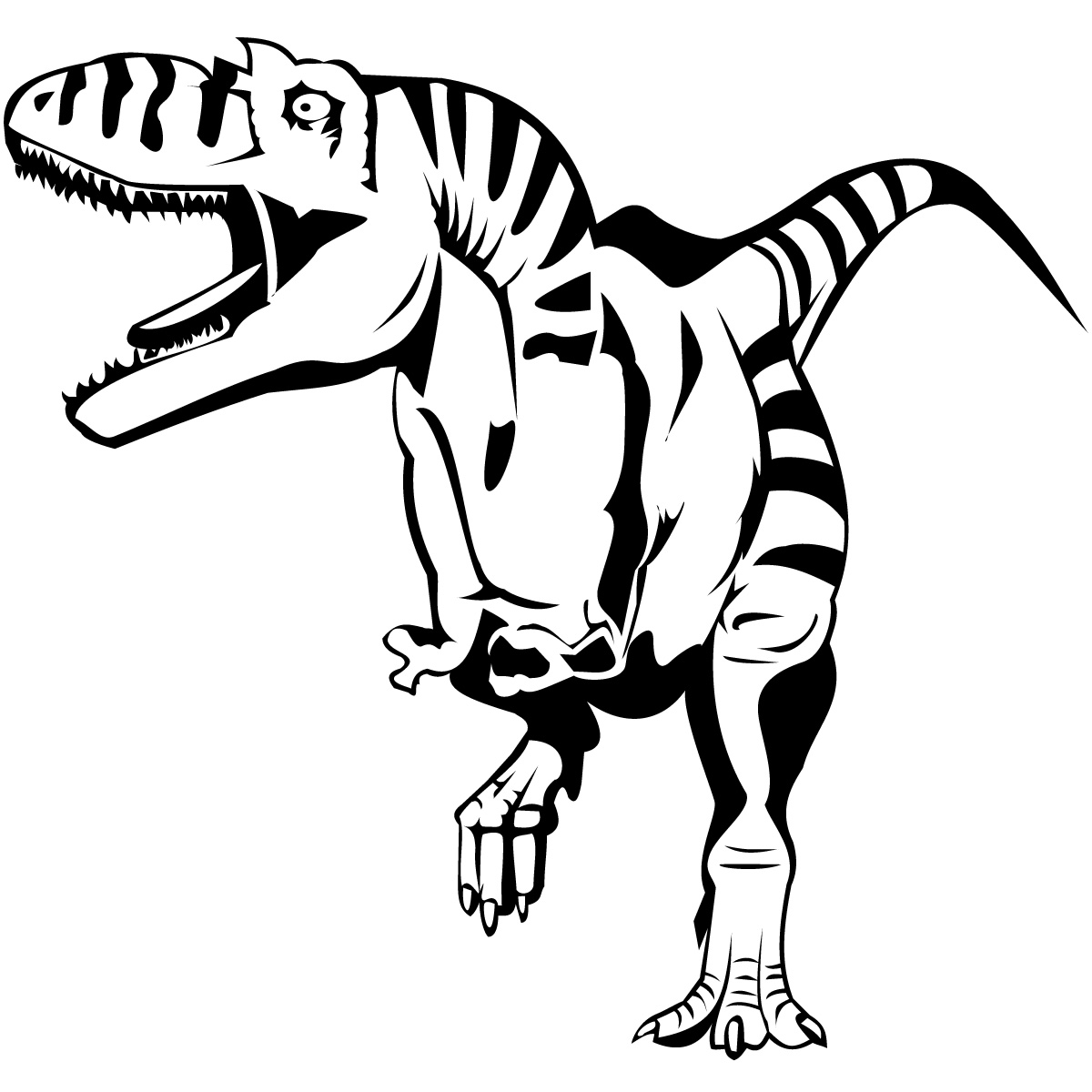 Open Mouth T Rex Dinosaurs Wall Art Sticker Wall Decal