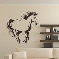 Running Horse Animals Wall Art Sticker Decal Transfers | eBay