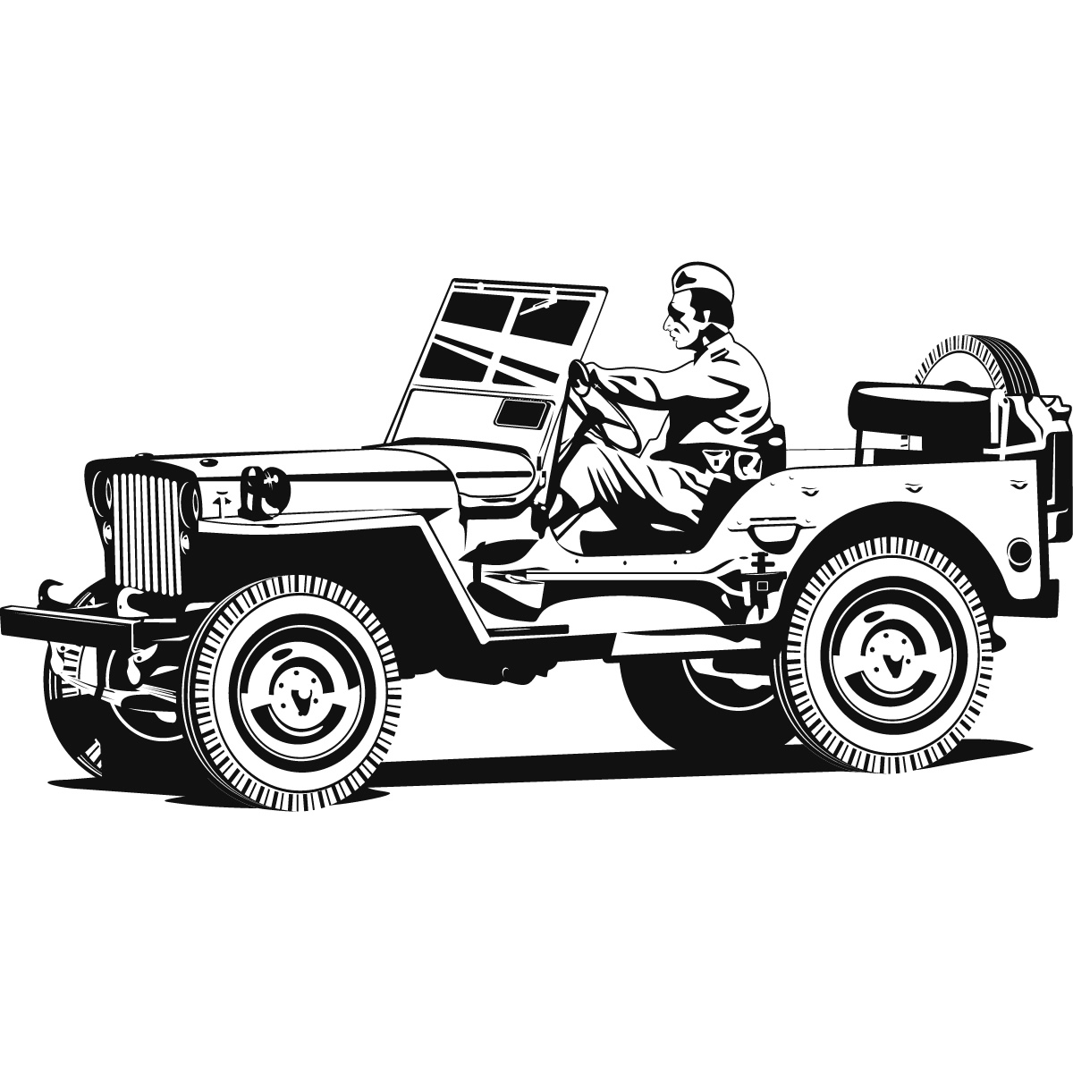 Army Jeep Cars And Jeeps Wall Art Sticker Wall Art