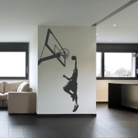 Basketball Slam Dunk Sports and Hobbies Wall Art Decal ...