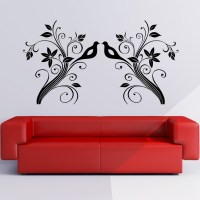 Birds on Branches Floral Wall Art Sticker Wall Decals ...