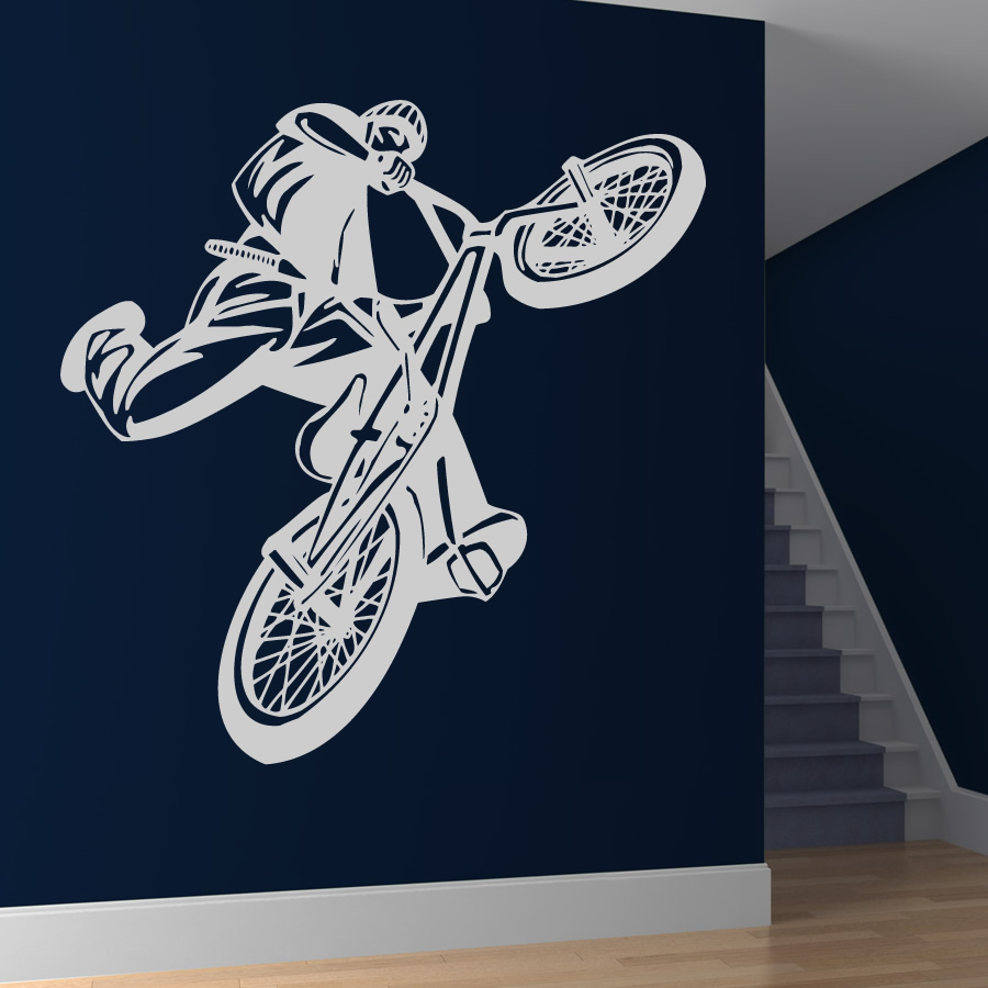 Bmx Jumpbike Sports And Hobbies Wall Stickers Decal