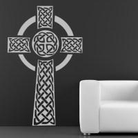 Celtic Cross Print Wall ART Sticker Wall Decals Transfers ...