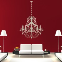 Ceiling Chandelier Candle Old Fashioned Wall Stickers Wall ...