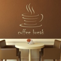 Coffee Break Kitchen Cafe Wall Decals Wall Art Stickers ...