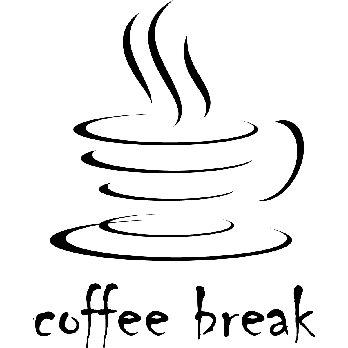 Coffee Break Kitchen Cafe Wall Decals Wall Art Stickers