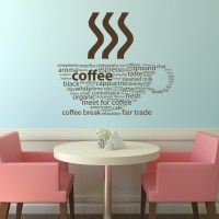 Coffee Types Kitchen Cafe Wall Decals Wall Art Stickers ...