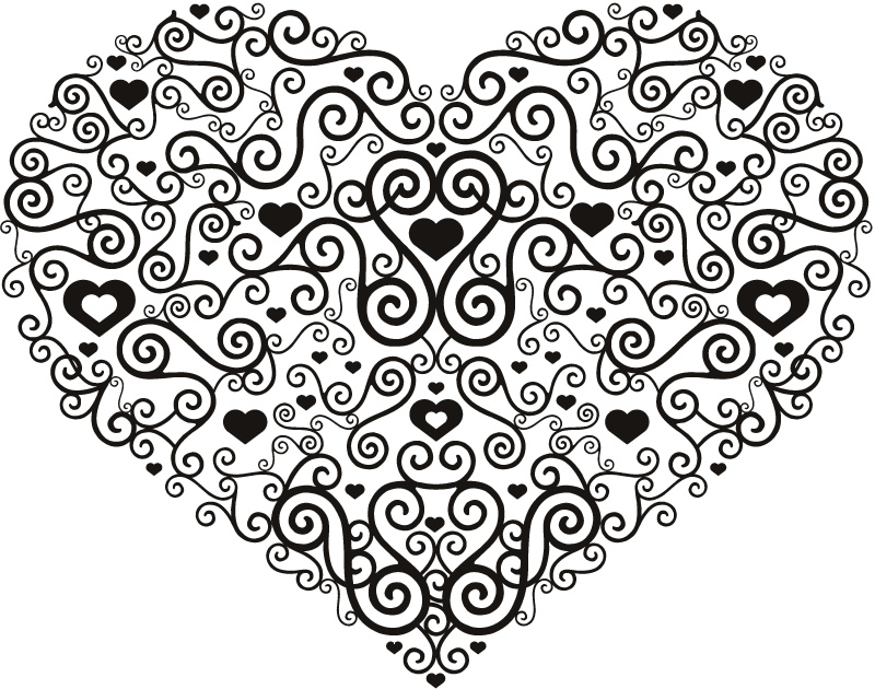 Floral Heart Decoration Wall Stickers Home And Living Wall