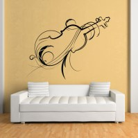 Decorative Violin Wall Art Decals Wall Stickers Transfers ...