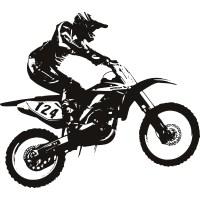 Dirt Bike Motorbike Wall Decal Wall Art Stickers Transfers ...