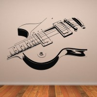 Electric Guitar Wall Art Decals Wall Stickers Transfers | eBay