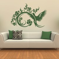 Floral Decorative Bird Wall Stickers Wall Art Decals ...