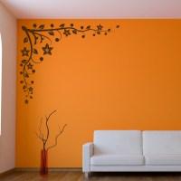 Decorative Corner Floral Wall Art Decal Wall Art Transfers ...