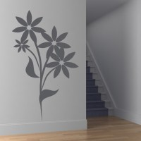 Floral Flower Wall Art Decals Wall Stickers Transfers | eBay