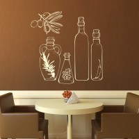 Glass Bottles Kitchen Wall Art Stickers Wall Decals