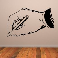 Hand Writing Office Wall Art Sticker Wall Decal Transfers ...