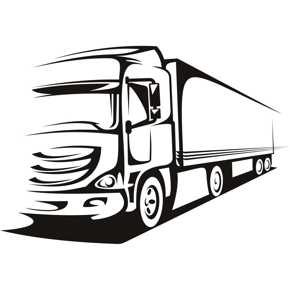 Lorry Wagon Truck Transport Wall Art Sticker Wall Decal