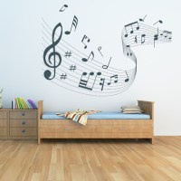 Quaver Led Musical Wave Wall Stickers Musical Notes Wall ...