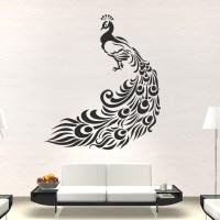 Peacock Bird Animal Wall Art Stickers Wall Decal Transfers ...