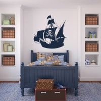Pirate Ship Kids Pirates Transport Wall Art Sticker Wall ...