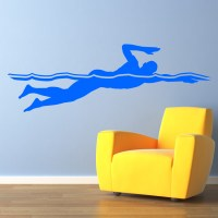 Swimming Front Crawl Wall Decal Transfers