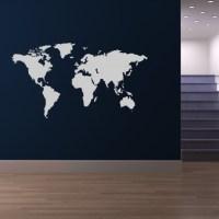 World Map World Atlas Wall Stickers Wall Art Decal ...