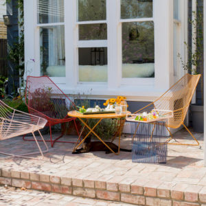 handcrafted wire outdoor table chairs