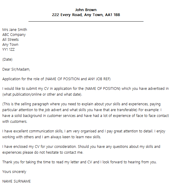 Best Cover Letter Layout Icover Org Uk